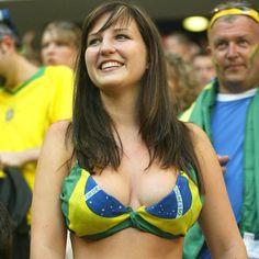 Protest against Female brazilian naked footballer you