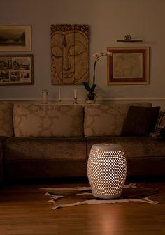 garden stool as a lamp