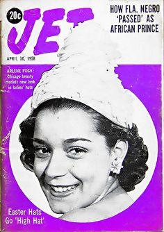 Arlene Pugh Models New Look in Ladies Hats - Jet Magazine,… | Flickr
