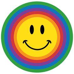 smiley faces | circle rainbow smiley face sad blue smiley face