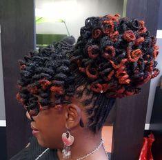 Curly loc bun