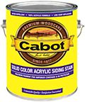 Cabot Stain - Solid comes in a variety of colors to protect and beautify your outdoor wood surfaces.