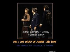Everly Brothers LIVE on Johnny Cash Show sing That Silver Haired Daddy o...
