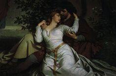 Tristan & Isolde by A. Tristan Und Isolde, Tristan Et Iseult, Romantic Paintings, Romance Art, Neuschwanstein Castle, Ludwig, Pre Raphaelite, Classical Art, Artist Painting