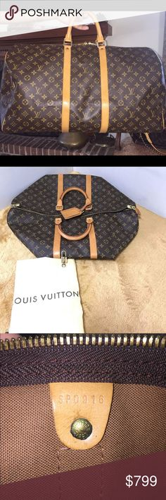 Authentic Louis Vuitton Keepall 55 ✈️✈️✈️Keepall 55 ✈️✈️     Travel in Style with this beautiful highly sought after travel bag Keepall 55 . Carry on Size, travel with Style💕💕    Conditiion Excellent used condition  Vachetta shows normal wear ( small watermarks) Canvas is great ( No cracks) Good condition in all corner canvas  Handle is in exellent condition Hardwares have normal signs of use Very clean inside  Over all this is in great shape and ready to use! Please review each photo…