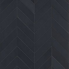 Mews - Ink - Small Chevron - Porcelain Tile