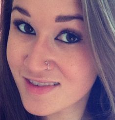 Double nose piercing. Nose ring, nose stud, nose hoop