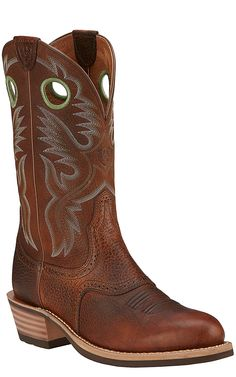 Ariat Heritage Roughstock Men's Brown Oiled Rowdy Round Toe Western Boots | Cavender's