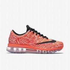 new product 997eb fcff1  115.50 nike pink womens shoes,Nike Womens Hyper Orange Sail Black Air Max  2016 Print Running Shoe