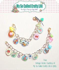 DIY Shrink Plastic Vintage Bracelet Tutorial and Free Pintables... - True Blue Me & You: DIYs for Creative People