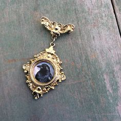 Black Bird Brooch/Edwardian/Victorian/Gothic by TheOmbrePoodle on Etsy