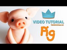 (10) How to make a cute Pig Cake Topper - Cake Decorating Tutorial - YouTube