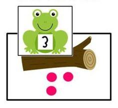 Frogs on a Log math center game!  http://www.teacherspayteachers.com/Product/Math-Centers-SUPER-PACK-2-10-activities