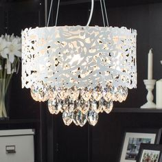 Modern Crystal Pendant Light Dining Room Crystal Lamp Bedroom Pendant Light Entranceway Lamp-stand Lamps