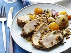 Sicilian Swordfish with Sweet-and-Sour Vegetables Recipe : Food Network - FoodNetwork.com
