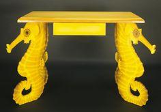 Sjöhäst möbelset skulpterade av konstnären Charlotte Nicolin på Tradera.