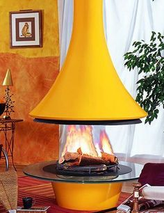 Round Indoor Fireplace | Looking for something more futuristic ?