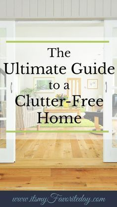 Wow! Not matter what your struggle is, everything you need is in this guide to a clutter-free home. There is even a free printable decluttering list is in this post. You want to share and save this one now!