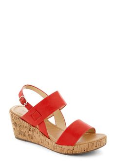 Have a Good Daydream Wedge in Red, #ModCloth. Want these in black!