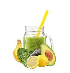 Een droom van een smoothie deze groene jongen, boordevol antioxidanten en voedinsstoffen maar toch een zachte afdronk... Avocado/banaan/groene kool/citroen