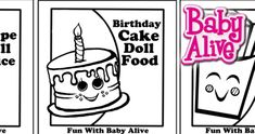 Fun With Baby Alive Food Packets To Print Cheap Toys Kids Toys