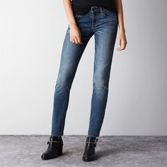 Hi-Rise Skinny Jeans ($30) ❤ liked on Polyvore