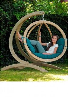 hammocking around - would be perfect with a book and some iced tea! #HangingChair