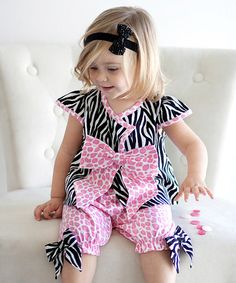Take a look at this Pink Dream Land Tunic & Capri Pants - Infant by Nesting Baby on #zulily today!