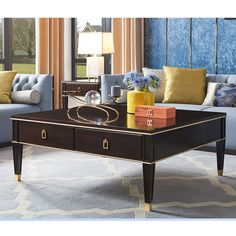 American luxury square solid wood coffee table Tv Stand And Coffee Table, Solid Wood Coffee Table, American, Luxury