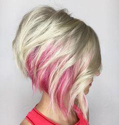 Short asymmetrical bobs hairstyle haircut 22