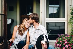 Dogs in Engagement Photos  | Erin Morrison Photography www.erinmorrisonphotography.com