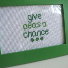 Give Peas A Chance - Cross Stitch