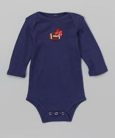 Love this Navy & Red Football Bodysuit - Infant on #zulily! #zulilyfinds
