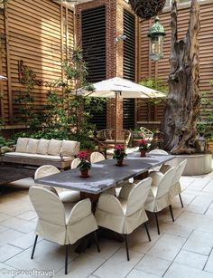 Courtyard at the Crosby Street Hotel, New York
