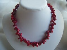Handmade Coral Bamboo Necklace