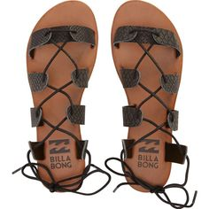 Beach Brigade Sandals (€11) ❤ liked on Polyvore featuring shoes, sandals, flats, black, beach sandals, black shoes, black laced shoes, black lace up flats and lace up sandals