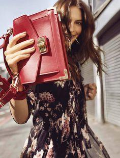 "7e6947da4a732 ""Emily Ratajkowski for The Kooples Fall Winter 2017 with  The Emily bag"
