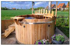Wood Burning Hot Tub - Buy Round Hot Tub,Wood Fired Hot Tub,Outdoor Wood Burning Hot Tub Product on Alibaba.com