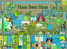 DitzBitz Home Sweet Home $2.50