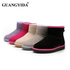 Good price Winter Warm Women Genuine Leather Boot High Quality Fur Boots Ankle Masculina Snow Boots Sheepskin Wool One Boot 259 just only $32.14 with free shipping worldwide  #womenshoes Plese click on picture to see our special price for you