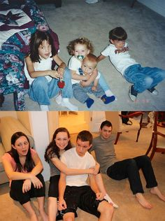 These Siblings Recreated Their Childhood Photos For Their Parents. The Result Is Hilarious Perfection !