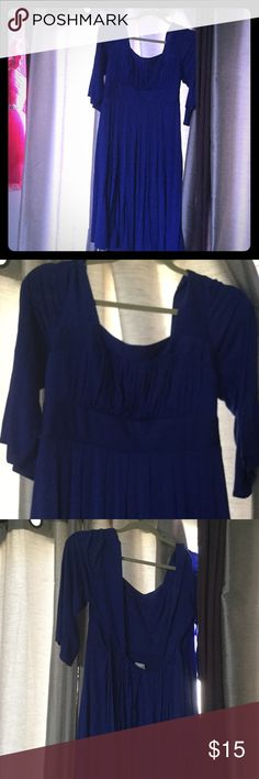 Blue sexy dress Blue dress.... Never been used .... Purchased  in a boutique fits large or xl body 😘 Dresses Backless