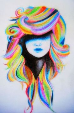 This can be done with chalk and crayon, but it's cool how the detail is in blue