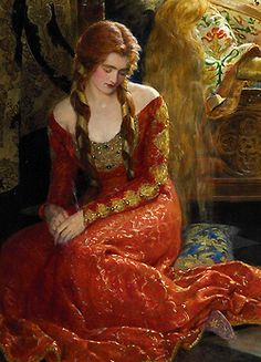 The Sleeping Beauty - detail - by John Collier (1850-1934) oil on canvas, 1921 // John Collier (artist) (1850–1934), English painter in Pre-Raphaelite style; one of the most prominent artists of his time; also a writer