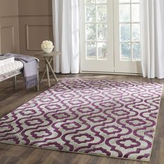 PRL7734B Rug from Porcello collection.  From abstract graphics and pop art florals to refined damasks, Porcello rugs unify design through the ages with bold, vibrant color. To create the texture of fine European carpets Porcello rugs are power loomed of enhanced polypropylene.