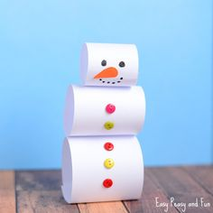 There's nothing better than a clever and quick craft and this simple paper snowman craft is just that. Perfect little classroom project for winter months that can easily be turned into decoration. Simple Paper Snowman Craft What you need white paper scissors buttons (pom poms or paper will do just nicely too, or just use …