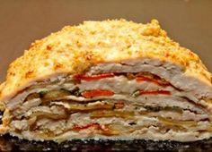 Курица слоями - куриное филе запеченное в духовке, простой пошаговый рецепт