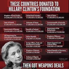"""Doing favors for cash... Ya.. We want that corruption in the White House! This country is full of damn idiots if this sorry piece of crap gets elected ! ! ! She is """" THE WHORE IF BABALON """". We were warned about her in the Bible !"""