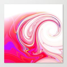 Re-Created  Tsunami SEVEN Canvas Print by Robert S. Lee - $85.00