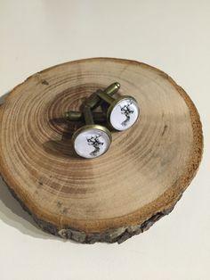 Glass Cufflinks - As You Were Wood Watch, Cufflinks, Jewelry Accessories, Stockings, Stocking Fillers, Mini, Glass, Crafts, Jewellery